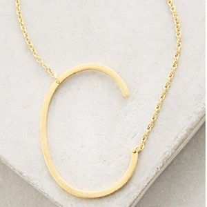 Block Letter Monogram Necklace from Anthropologie